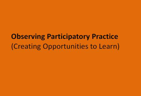 Observing Practice Framework