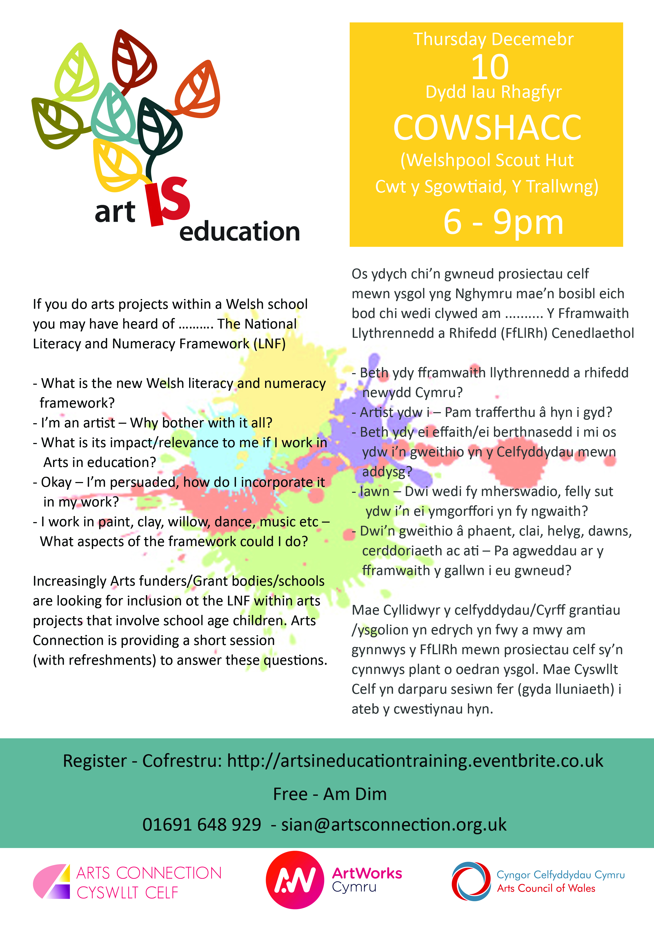 ArtWorks Cymru CPD Event - Art is Education