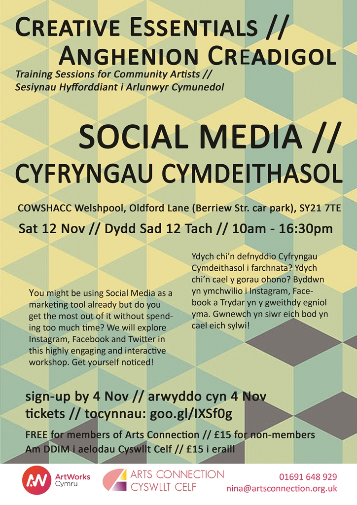 ArtWorks Cymru CPD - Social Media for Community Artists